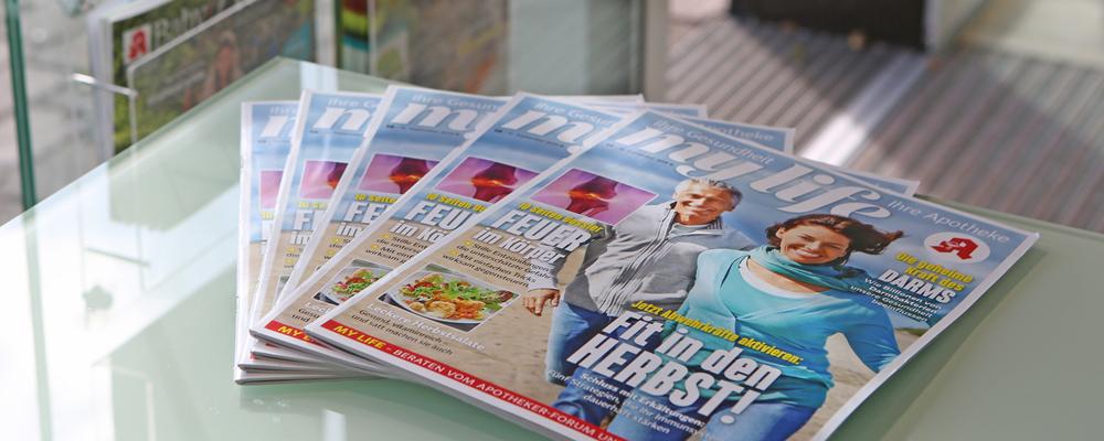 Kundenzeitschriften Apotheke am Billenkamp, Große Straße 10 21521 Aumühle, Dr. Thomas Röttger, Beratung, Kompetenz, Service.
