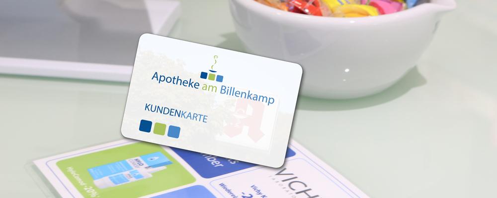 Kundenkarte Apotheke am Billenkamp, Große Straße 10 21521 Aumühle, Dr. Thomas Röttger, Beratung, Kompetenz, Service.